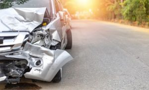 automóvil chocado